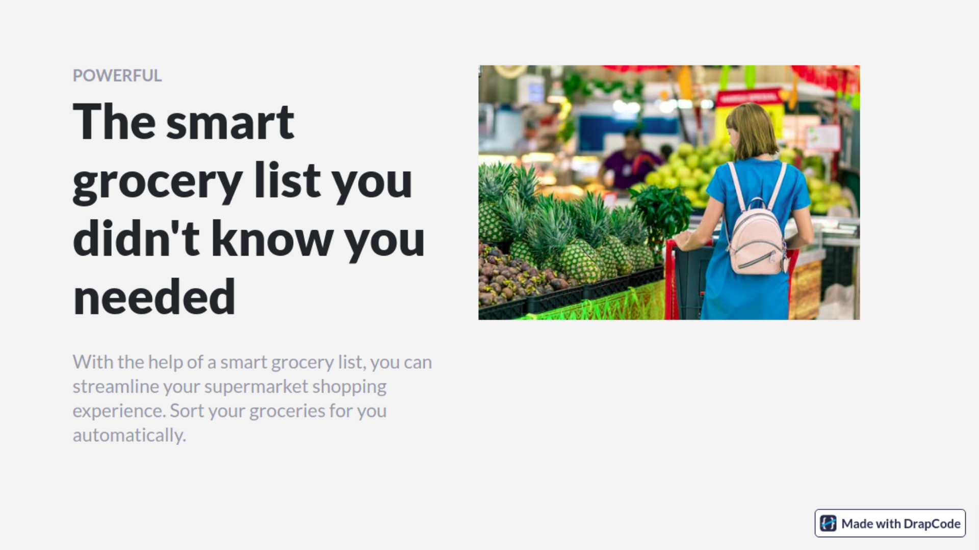 Grocery List - Template