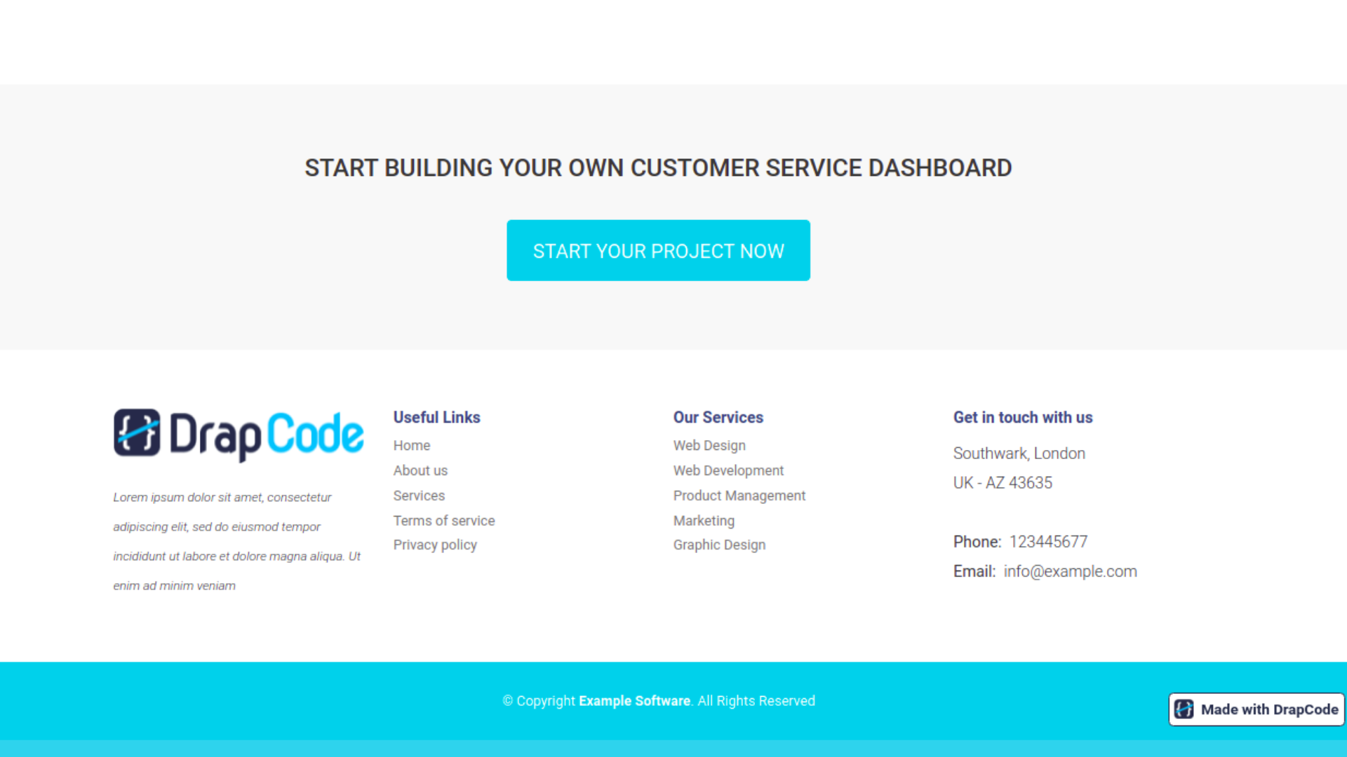 Customer Support Dashboard - Template