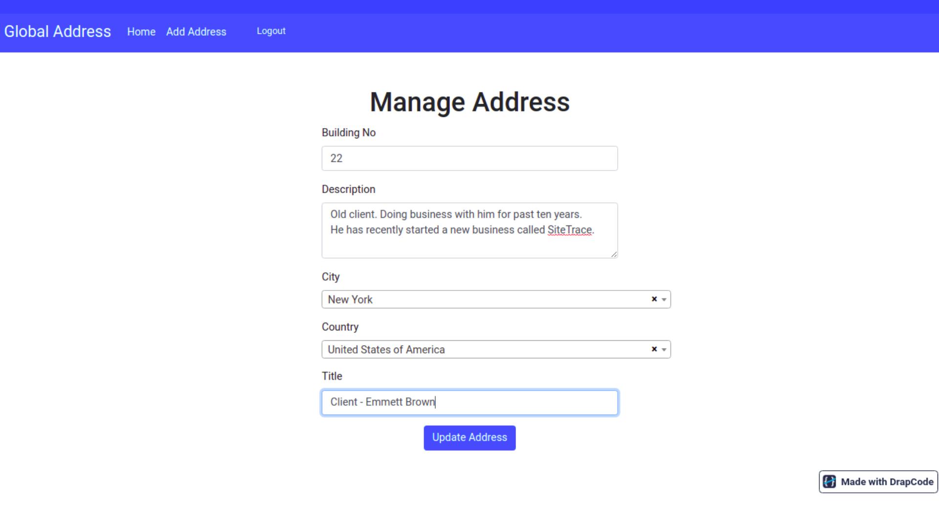 Address Book - Template